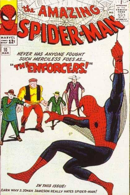 Cover dell'albo Amazing spiderman 10
