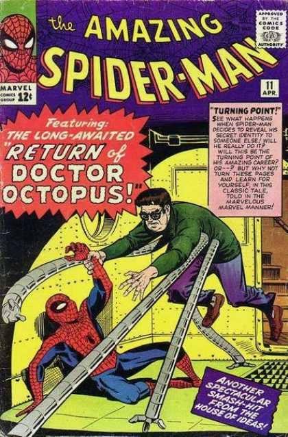 Cover dell'albo Amazing spiderman 11