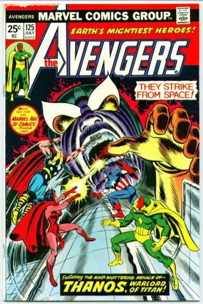 Cover dell'albo AVENGERS 125
