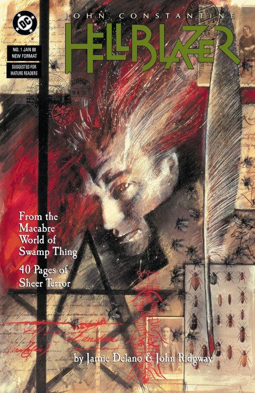 cover del n. 1 della serie John Constantine Hellblazer (DC Comics, gennaio 1988)