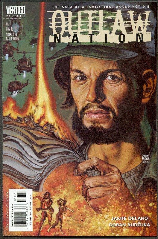 Cover del n. 1 della miniserie Outlaw Bation, scritta da Jamie Delano (DC Comics)