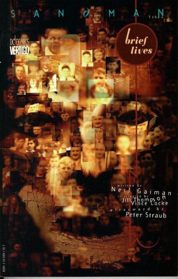 cover del volume di sandman: Brief Lives (brevi vite), di Dave McKean
