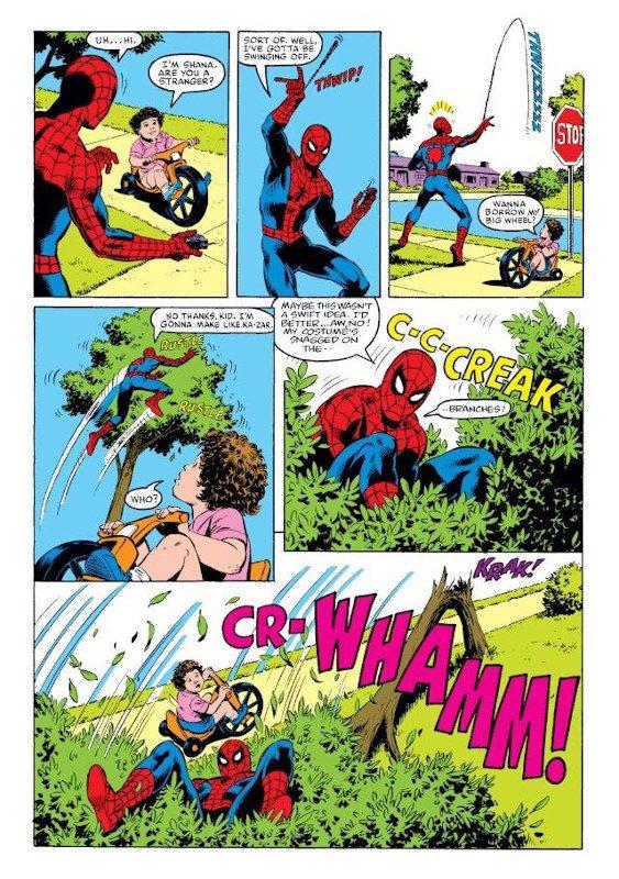 pagina imbarazzante estratta da AMAZING SPIDERMAN 267