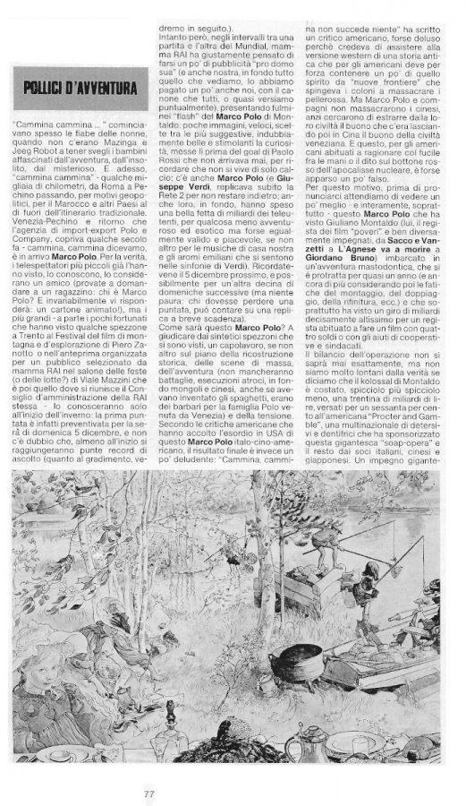 La pagina 77 del n. 7 di Pilot con l'articolo di Carlo Scaringi ...