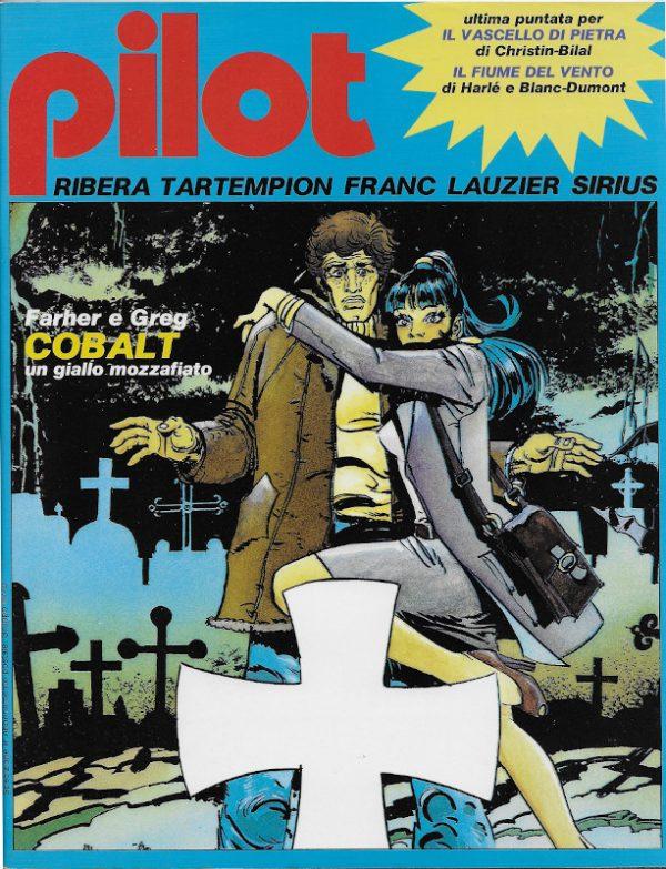 La bella Copertina del n. 8 della rivista PILOT (EDIZIONE ITALIANA), agosto-settembre 1982.