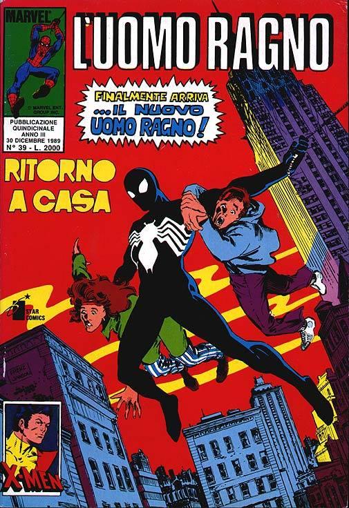 Copertina del n. 39 della collana Uomo Ragno della Star Comics (1989)