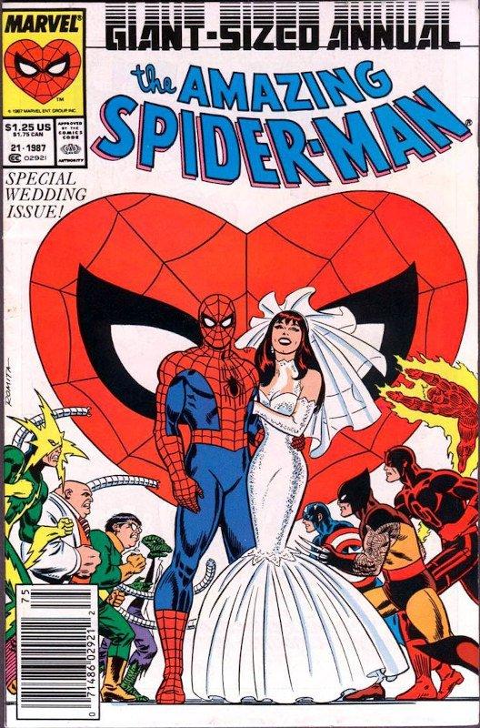 AMS Annual #21-matrimonio di peter parker e Mary Jane