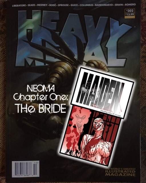 Heavy Metal Magazine( con la storia Maiden disegnata da Bart Sears)