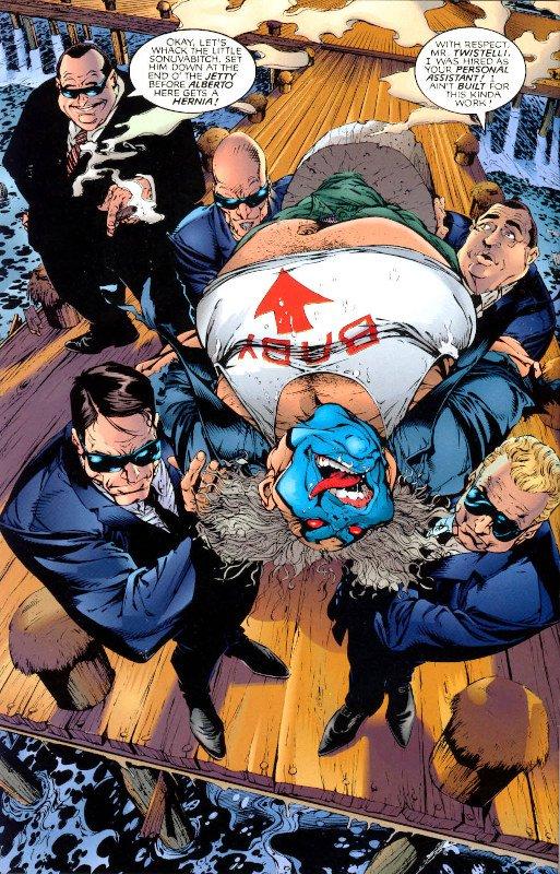 Pagina estratta da Violator Image Comics, disegni di Bart Sears, su testi di Alan Moore