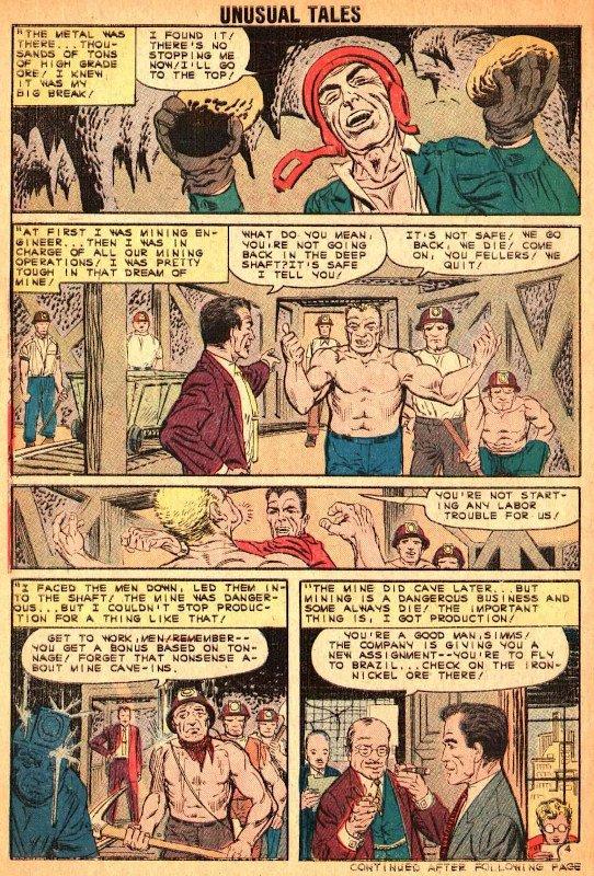 Altra tavola del proto Osborn estratta dal racconto A LOOK INTO THE FUTURE uscito su UNUSUAL TALES # 27.