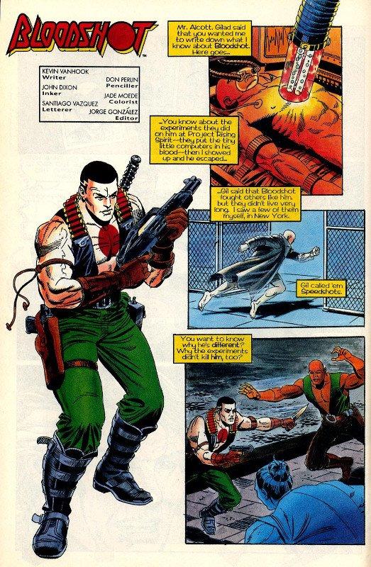 pagina inziale di una storia di Bloodshot-scitta da Kevin VanHook_RID