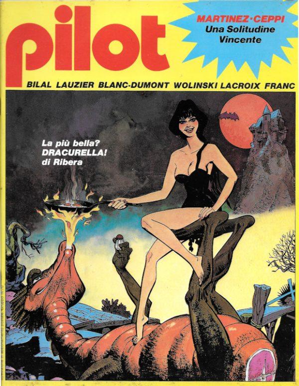 La bella copertina del n. 11 della rivista PILOT (EDIZIONE ITALIANA), Gennaio 1983,  a cura di Ribera