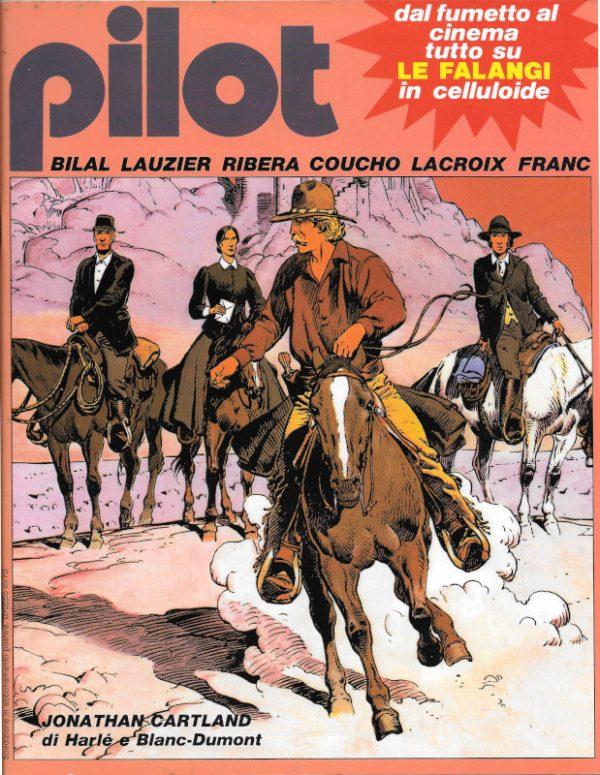 La bella copertina del n. 12 della rivista PILOT (EDIZIONE ITALIANA), febbraio 1983 dedicata a Jonathan Cartland