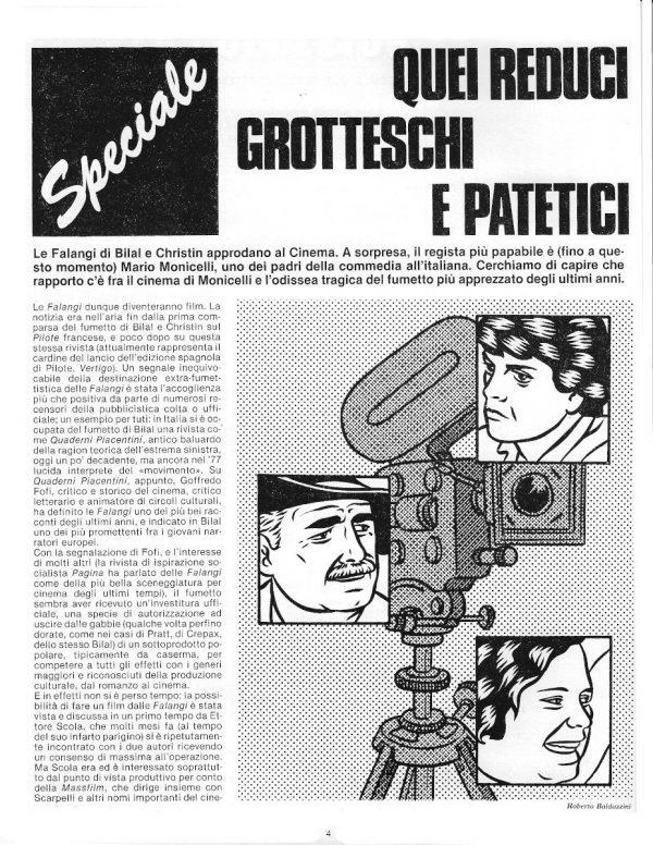 SPECIALE: QUEI REDUCI GROTTESCHI E PATETICI, dal n. 12 della rivista PILOT (EDIZIONE ITALIANA), febbraio 1983 - pag. 4