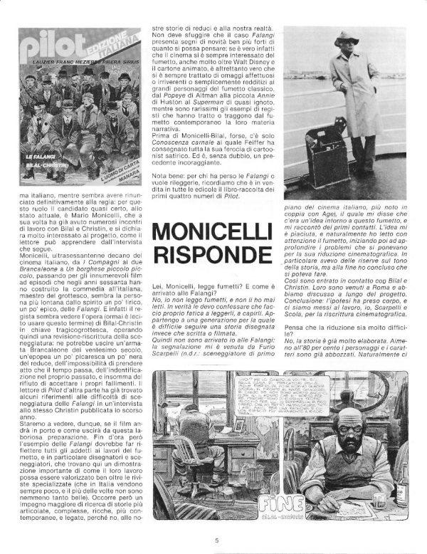 SPECIALE: QUEI REDUCI GROTTESCHI E PATETICI, dal n. 12 della rivista PILOT (EDIZIONE ITALIANA), febbraio 1983 - pag. 5