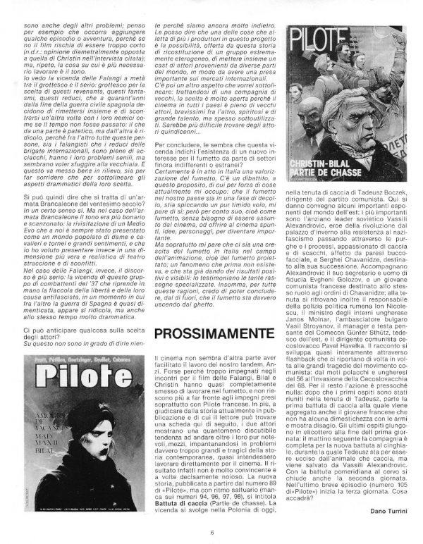 SPECIALE: QUEI REDUCI GROTTESCHI E PATETICI, dal n. 12 della rivista PILOT (EDIZIONE ITALIANA), febbraio 1983 - pag. 6