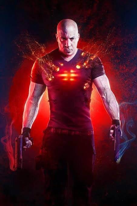 poster del film bloodshot con van disel