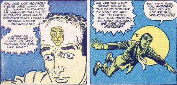 """Altra vignetta del proto peter parker, chiamato Ted Carter, estratta dalla storia di AMAZING FANTASY #14 """"Man in the Sky"""""""