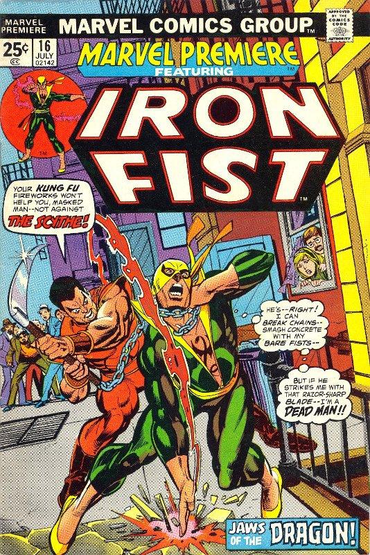 Iron Fist- da  Marvel Premiere #16, prima opera in Marvel Di Larry Hama