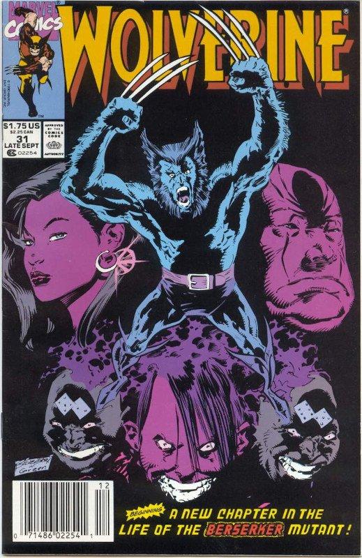 Cover di Wolverine #31, disegnato da Larry Hama