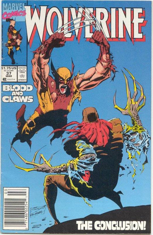 Cover di Wolverine #37 disegnato da Larry Hama