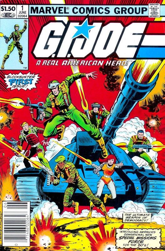 copertina di G.I.Joe #1, disegnato da Larry Hama