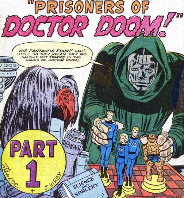 Vignetta con il debutto del doctor Doom su FANTASTIC FOUR #5 (Luglio 1962)