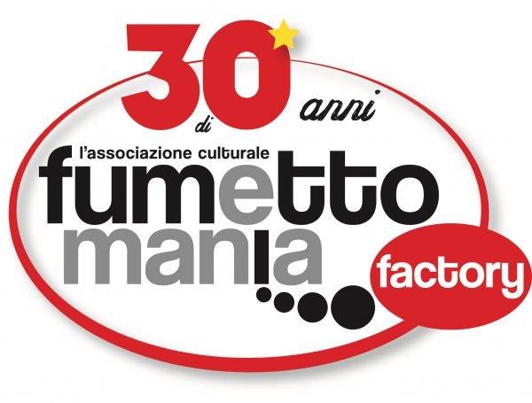 Il nuovo logo di fumettomania factory per i 30 anni dell'Associaizone culturale