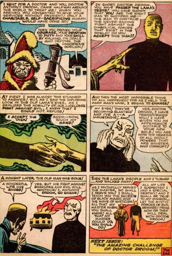 La tavola finale dalla storia con Dottor Droom, sempre estratta AMAZING ADVENTURES #1 (Giugno '61)