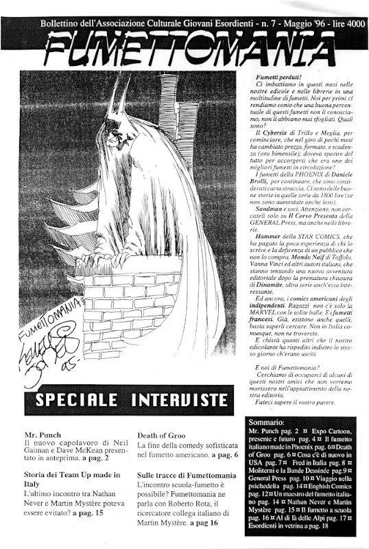 Fumettomania #7_cover di kelley Jones (maggio 1996)