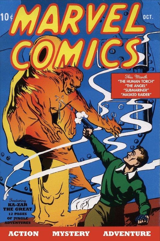 cover di MARVEL COMICS, ottobre 1939