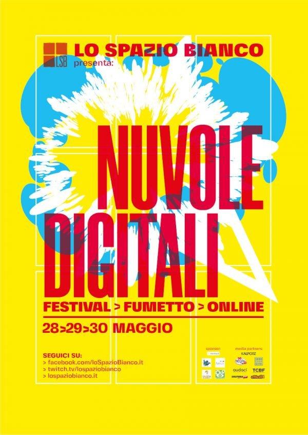manifesto del festival NUVOLE DIGITALI (realizzato da Testi Manifesti)