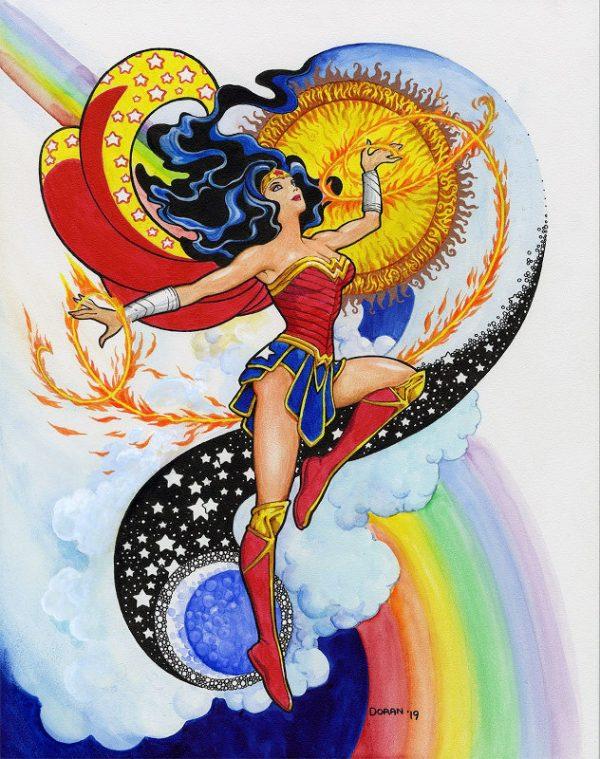Opera di Colleen Doran che potrete ammirare nella mostraWomen in Comics