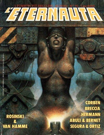 La copertina cyber-sexy di Oscar Chiconi per l'albo numero 70 della rivista L'Eternauta.