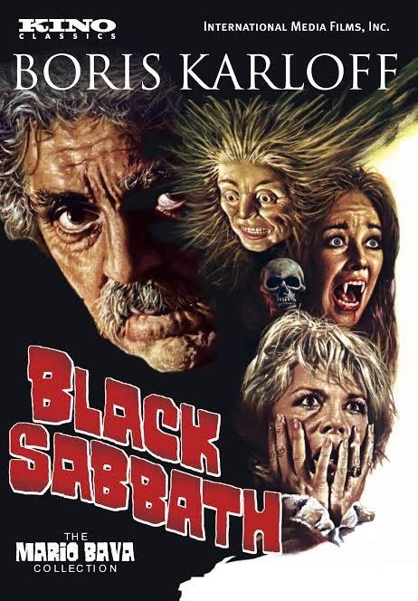 locandina inglese del film di Black Sabbath del regista italiano Mario Bava