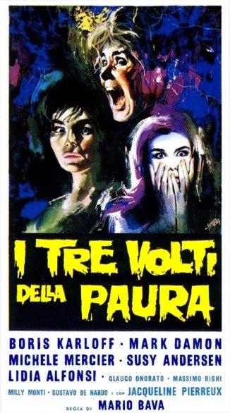 """locandina del film """" tre volti della paura"""" di Mario Bava"""