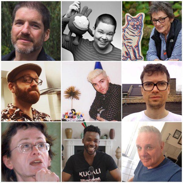 panel con 9 autori di fumetti