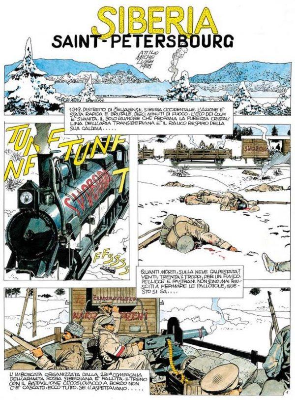 """Pagina tratta da """"SIBERIA"""" di Micheluzzi, il miglior fumetto italiano del 1989."""