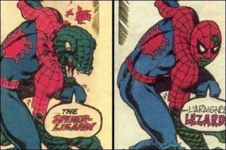 Censura: in Francia sulle serie Marvel degli anni '80 siano stati operati interventi incresciosi (in foto l'editing della trasformazione di Spidey in lucertola)
