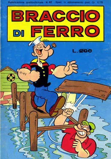 il periodico Braccio di Ferro, edito da Bianconi.