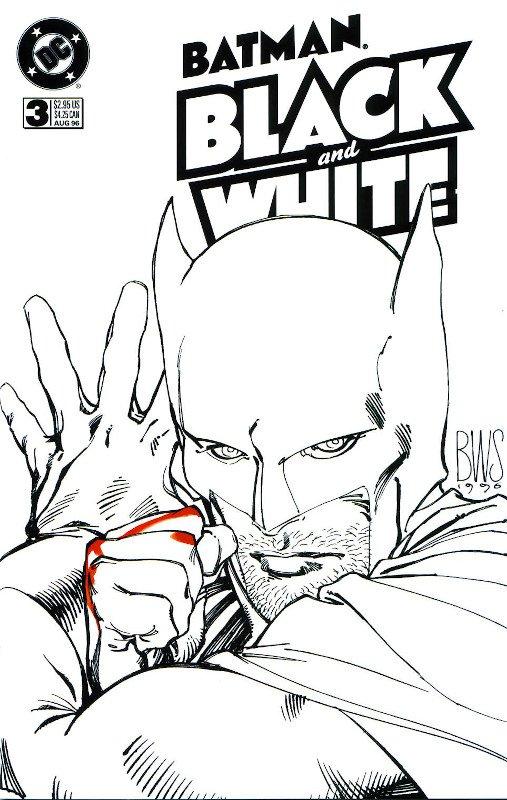 BATMAN- BLACK AND White (copertina  BWS)