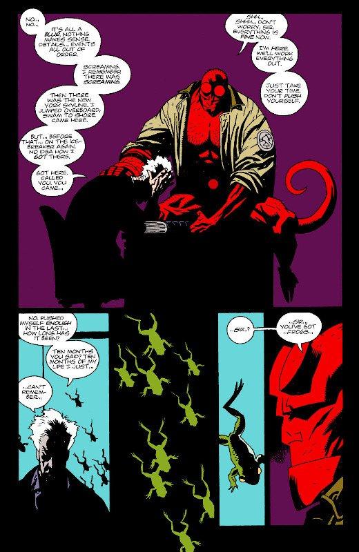 pagina di Hellboy (colori di Mark Chiarello)
