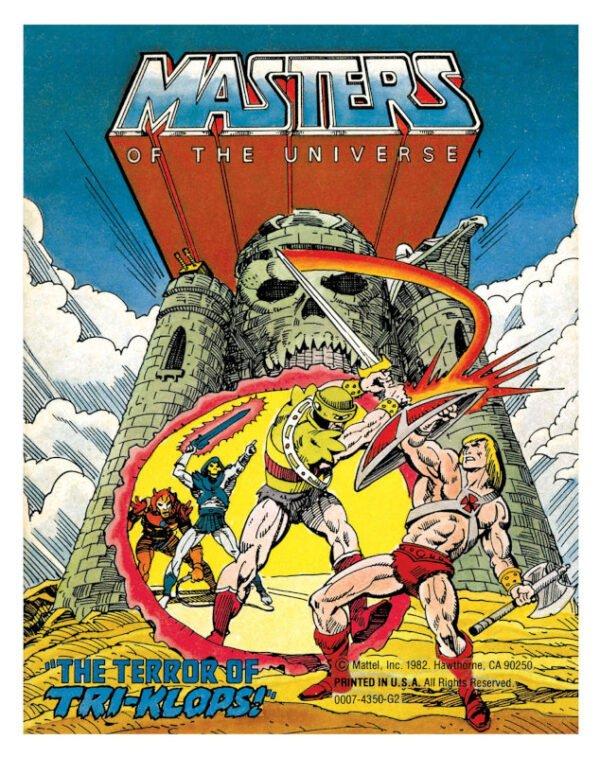 cover 2 dalla miniserie Masters of the Universe per la mattel