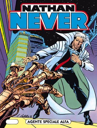 Copertina del n. 1 di Nathan Never, uscito in edicola il 18 giugno del 1991