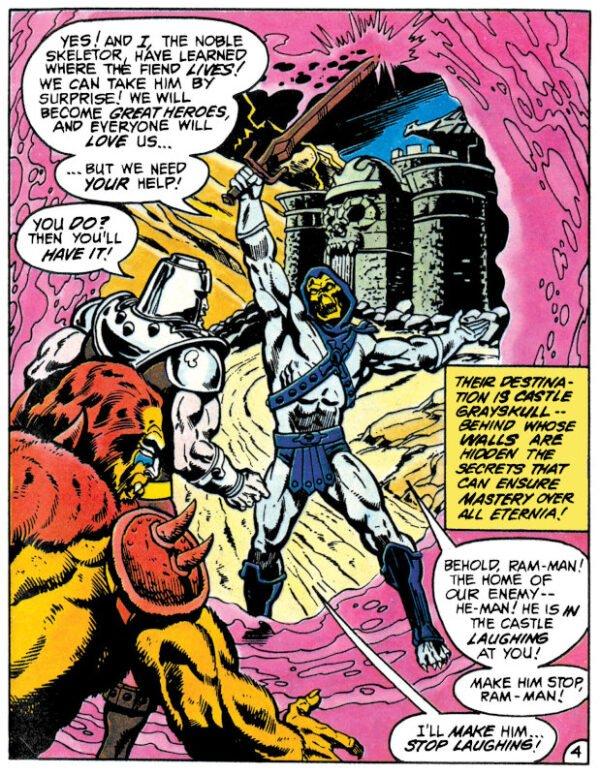splash page dal fumetto Masters of the Universe