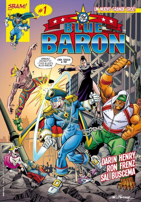 Blue Baron copertina del n. 1 (edizione italiana Sbam comics)