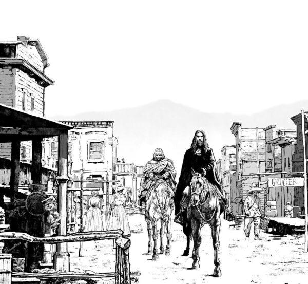 Dracula e la Sciamana a Penny Town - disegno di Emiliano Albano