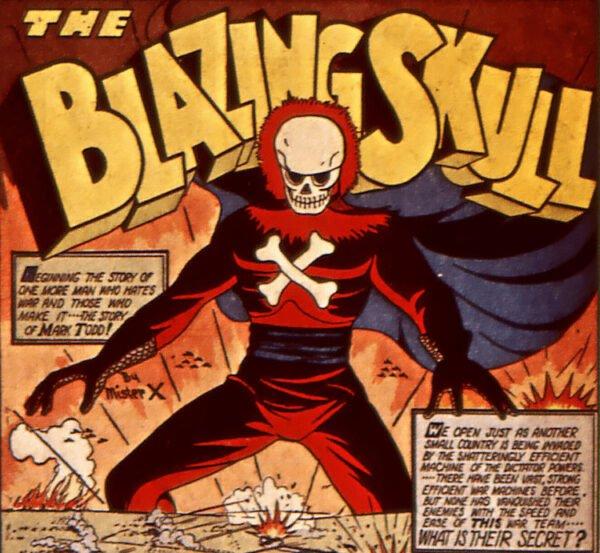 Blazing Skull (1941),personaggio Golden Age di Bob Davis.