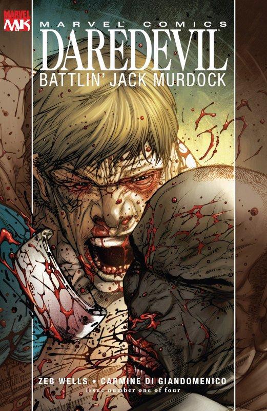 copertina del n. 1 della miniserie Daredevil-Battlin-Jack Murdopck