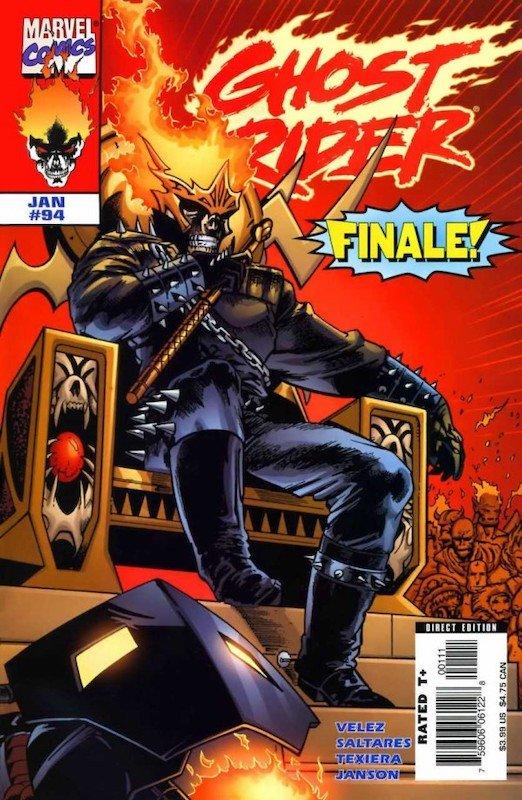 Ghost Rider 94 - ultimo numero della seconda collana - Cover